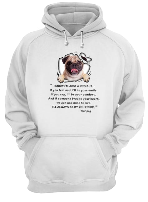 Pug I know I'm just a dog but I'll always be by your side Hoodie