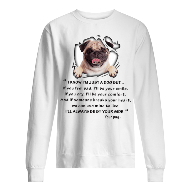 Pug I know I'm just a dog but I'll always be by your side Sweater