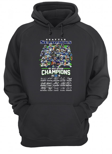 Seattle seahawks NFC West division Champions signatures Hoodie