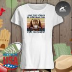 Dragon I like the sound you make when you shut up vintage s Ladies t-shirt