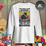 Dragon you don't stop reading when you get old you get old when you stop reading vintage s Sweater