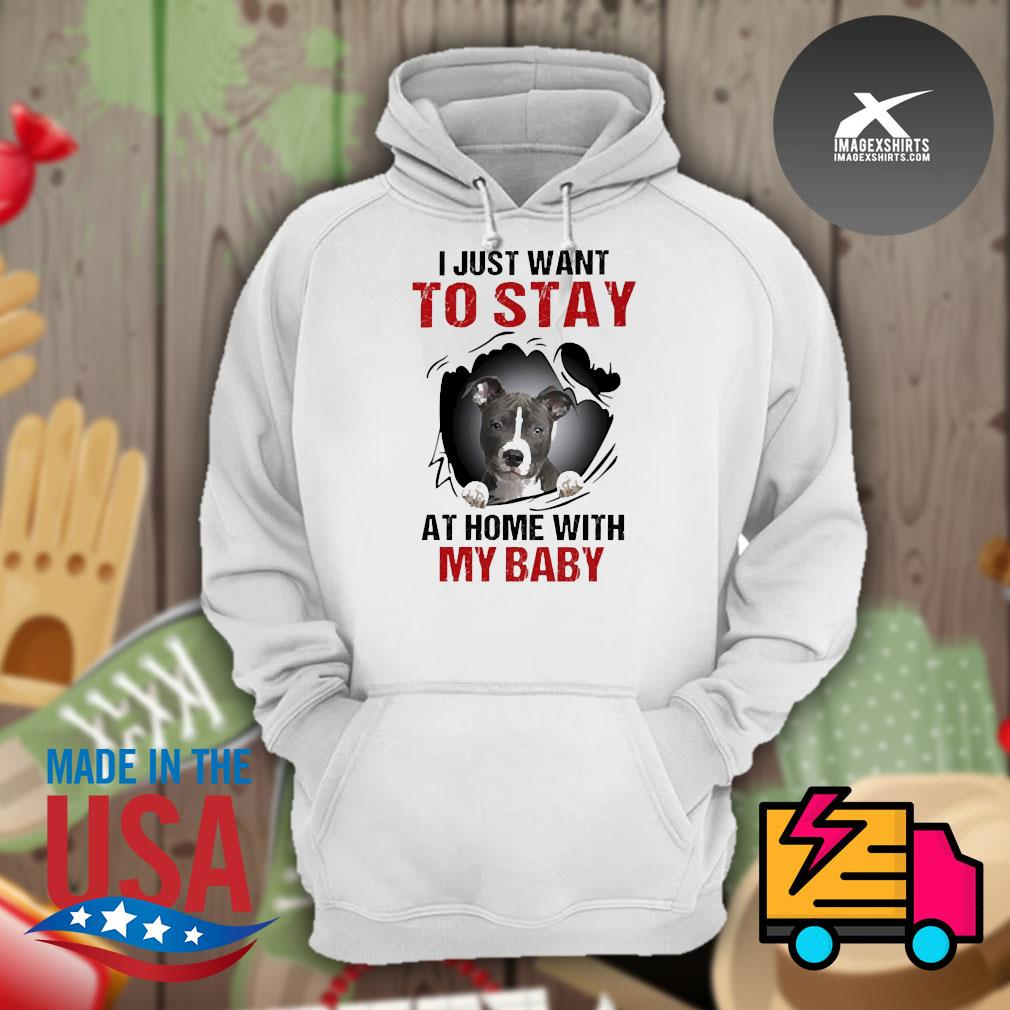 Blood inside me Pitbull I just want to stay at home with my baby s Hoodie